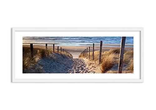 Imagen en un Marco de Madera de Color Blanco - Imagen en un Marco - Cuadro sobre Lienzo - Impresión en Lienzo - 120x50cm - Foto número 3612 - Listo para Colgar - en un Marco - F1WAB120x50-3612