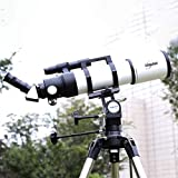Drohneks Finder Mirror 6X30, telescopio, telescopio de Viaje, telescopio astronómico con trípode y telescopio buscador, telescopio portátil, Longitud Focal 480 mm, 45 Grados; Prisma erecto