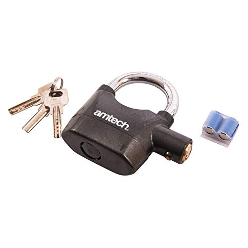 Digiteck C9D-AM-TECH Ultra Loud alarm padlock for bike/shed/toolbox sounds if touched, moved or knocked