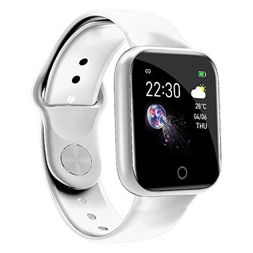 Cynyy Torntisc I5 Smart Armband Uhr Wen Frauen Fitness Tracker Herzfrequenz Smart Armband Männer Frauen Smartwatch Vs Q9 T68 P70 T80 B57-White