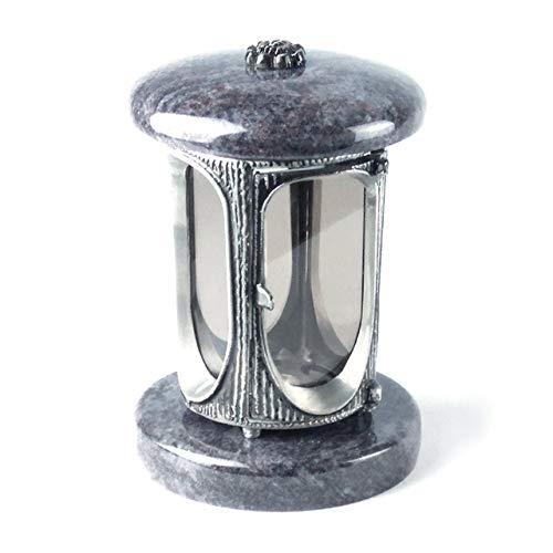 designgrab Alu Grablampe aus Aluminium in Antikoptik in Granit Orion Blue/Vizac Blue