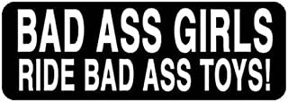 Bad A$$ Girls Ride Bad A$$ Toys Helmet Stickers - Novelty Artwork Decals, 4 x 1