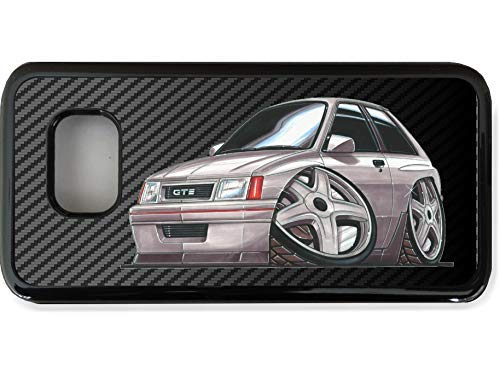 Stickers Koolart koolstofvezel & Retro Nova GTE Hot Hatch auto telefoonhoes voor Galaxy S serie, Galaxy S9+