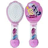 SRV Hub – Cepillo para el pelo con licencia premium para niñas con bobillas Set de regalo de Navidad para más de 3 años – My Little Pony (bobbles)