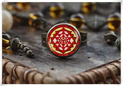 Anillo de meditación para yoga, regalo de joyería de yoga espiritual, anillo de mandala...
