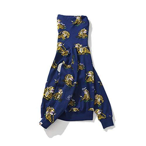 Bape Ape Shark Camo Sudadera con capucha para adolescentes y adultos, chaqueta unisex con cremallera completa, aumenta el valor fresco en un 100%, azul, M