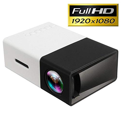 Mini Proyector Portátil Full HD LED YG300 - Negro/Blanco