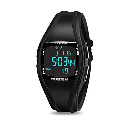 wasserdichte Armbanduhr Schrittzähler, Digitaler Sport Uhr mit Schrittzähler, Stoppuhr, Wecker, Timer, LED-Licht und Kalender für Alter 13 - Alter 45