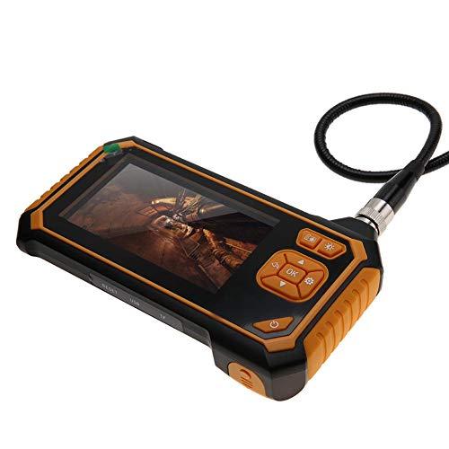 eecoo Endoscopio 10m Full HD Pixel 1080P, 4,3 Pollici Schermo LCD a Colori Telecamere di ispezione con USB Ricaricabile, 6 Luci LED, Impermeabile IP67, Sottile 8mm Diametro Fotocamera per Ispezione