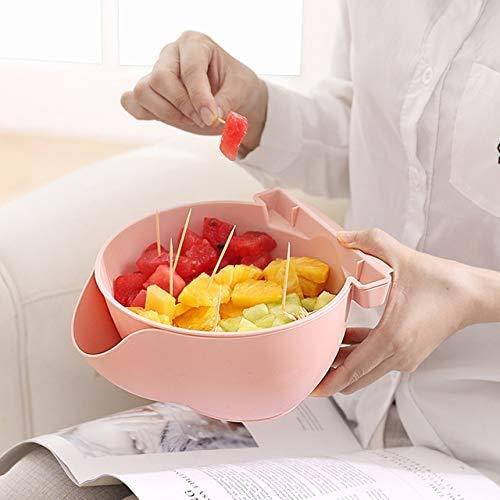 LLT Creativo Lazy Fruit Plate Snack Bowl Double Dry Fruit...
