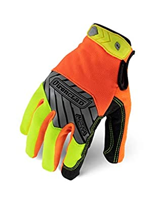 Ironclad Command Pro Work Gloves; Touch Screen Gloves Conductive Palm & Fingers, High Visibility, Performance Fit, Machine Washable, Sized S, M, L, XL, XXL (1 Pair)