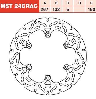 TRW Lucas Disque de frein arrière RAC pour Yamaha XJ 600 51J 83–90 MST248RAC