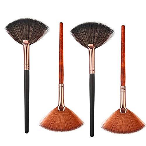4 Packungen Fächerpinsel, tragbare Gesichtspinsel, professionelle Gesichtsträhne, Maskenpinsel,...