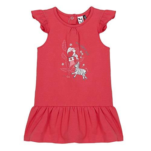 3 pommes Baby-Mädchen 3q30002 Robe À Manches Kleid, Rot (Rouge Rose 032), 3-6 Monate (Herstellergröße: 3/6M)