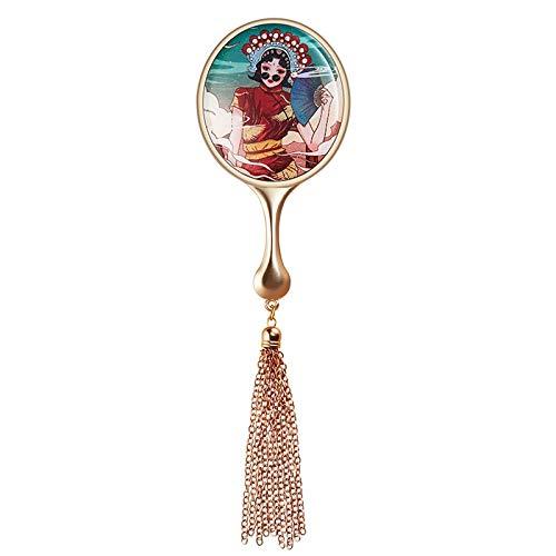 SJYDQ Portátil Plegable del Espejo cosmético, Escritorio Espejo de Aumento Espejo de baño Espejo Portable de Escritorio Plegable del Espejo cosmético (Color : A)