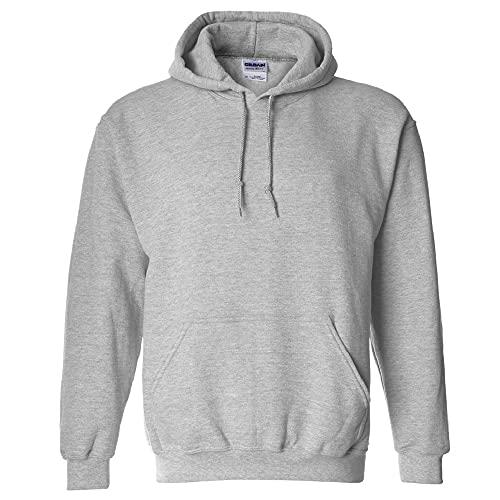 Gildan Men's Fleece Hooded Sweatshirt, Style G18500, Sport Grey, 3X-Large