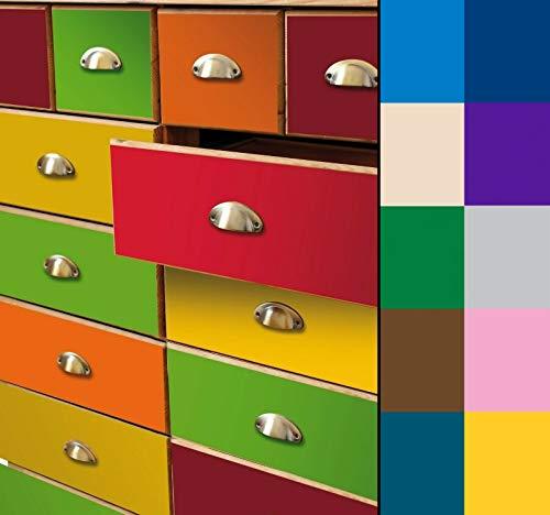 (7,40 €/m²) d-c-fix Verschiedene Uni Dekore/Maße/Glanz/Matt Selbstklebende Folie Möbel Küche Tür Deko Klebefolie (Petrol Lack, 200 x 67,5cm)