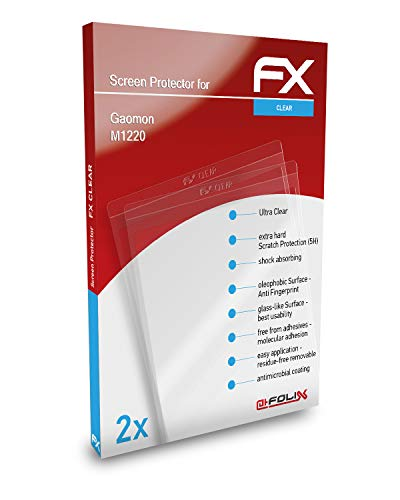 atFoliX Screen Protection Film compatible with Gaomon M1220 Screen Protector, ultra-clear FX Protective Film (2X)