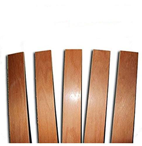 Láminas de recambio para somieres de camas individuales. Producto fabricado en madera de haya. Dimensiones de cada lámina: 790x 68mm