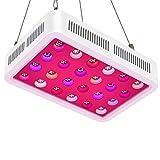 TOPLANET LED Horticole Lampe, Réflecteur 600W Lampe de Croissance UV IR Spectre Complet avec Veg & Bloom Channel pour Eclairage de Greenhouse/Serre/Laboratoire/Jardin/Intérieur