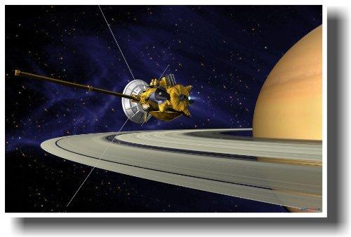Cassini-Huygens NASA Satellite Orbiting Saturn - Classroom Science Space...