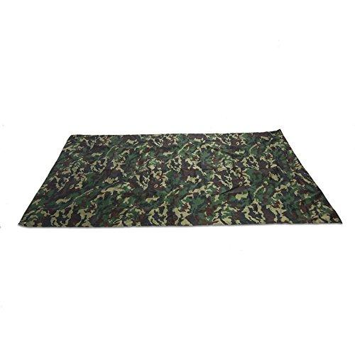 Camouflage Tarpaulin, Tente portative extérieure de Camouflage, abri de Toile de Tente portative de Toile portative légère en Nylon de Tissu imperméable de RainTent(3 * 2.9m)