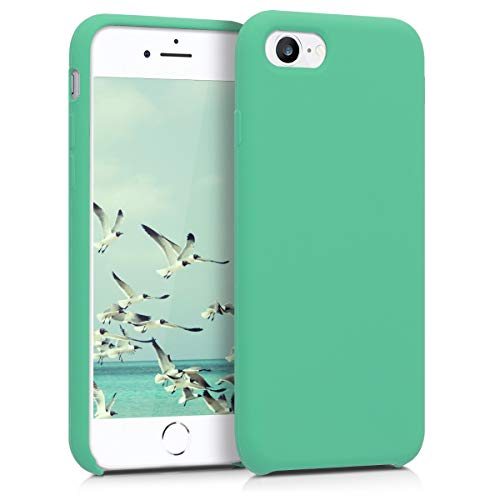 kwmobile Funda Compatible con Apple iPhone 7/8 / SE (2020) - Funda Carcasa de TPU para móvil - Cover Trasero en Verde Menta