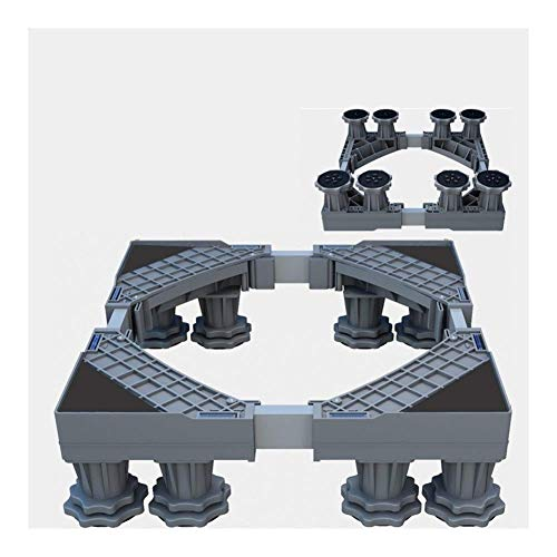 AISHANG Base de Soporte para Lavadora, Resistente, 4/8 pies, Soporte Ajustable para Secadora, Lavadora, refrigerador (4 pies), Deslizadores