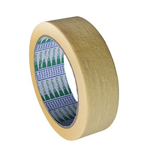 perfk Masking Tape Kreppband 50m Malerkrepp Klebeband Abklebeband für Lackierarbeiten und Malerarbeit - 3,0 cm