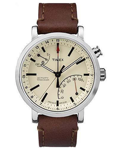 Timex Metropolitan + Sportuhr Beige, Braun, gebürsteter Stahl Bluetooth