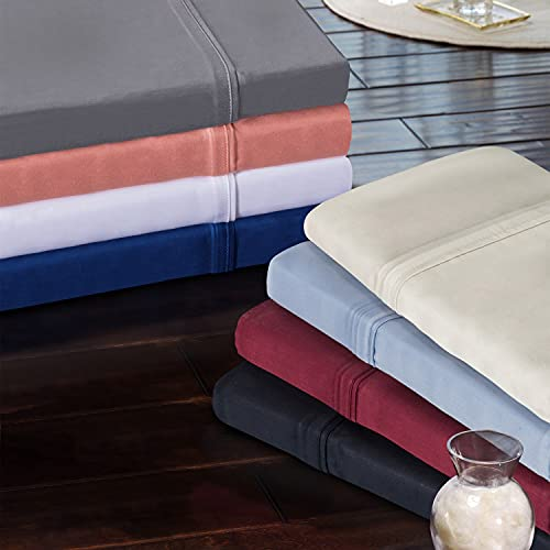 SUPERIOR Modal from Beechwood 300-Thread Count Solid Deep Pocket Sheet...