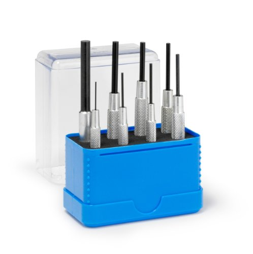 Rennsteig Parallel Pin Punches with Sleeve (Pin Remover Tools) - 8 Piece Set