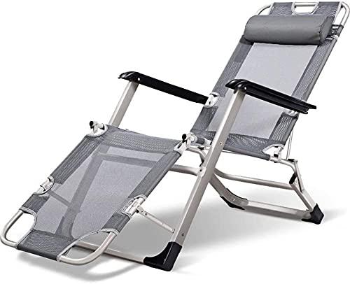 WSZYBAY Tumbonas de jardín y sillones reclinables Sillas Plegables con Tela sintética Transpirable 4 Posición Ajuste para Piscina de Playa Patio al Aire Libre Camping Pies Acero C2012