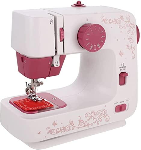 angelHJQ Máquina de coser para el hogar, con mesa de extensión ajustable de 2 velocidades con lámpara de trabajo de pedal de pie y cortador de alambre para adultos principiantes