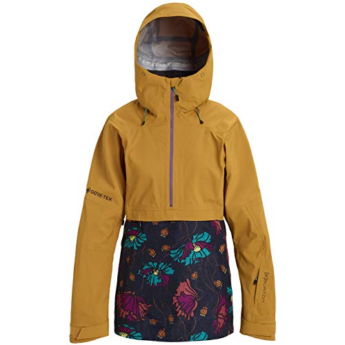 Burton W AK Gore-Tex Kimmy 3L Anorak Jacket Colorblock-Gelb, Damen Gore-Tex Jacke, Größe M - Farbe Wood Thrush - Bona F