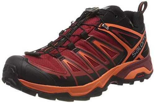 SALOMON X Ultra 3 GTX, Chaussures de Randonnée Basses Homme, Noir (Black/Red Dalhia/Scarlet Ibis 000), 46 EU