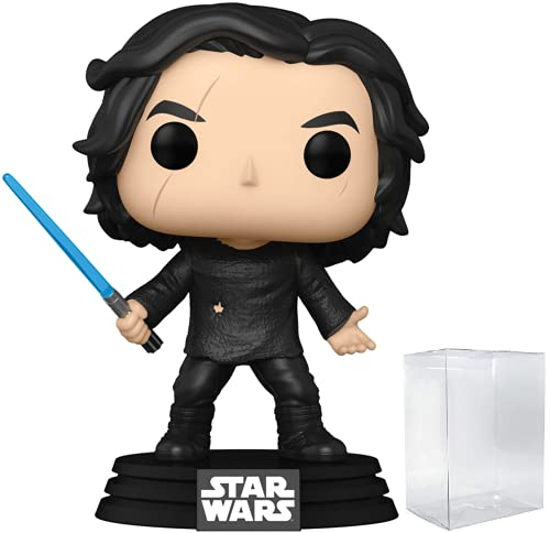 Funko Pop! Star Wars: The Rise of Skywalker – Ben Solo con spada laser blu (Kylo Ren) figura in vinile (include custodia protettiva compatibile per pop box)