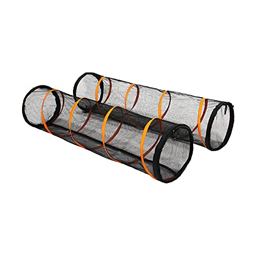 ITENT Cat Play Tunnel-2 Packs for Indoor and Outdoor, Cat Play House, Cat Enclosures Easy to Connect with Two Zipper Doors…