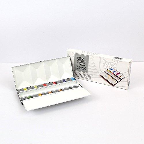 W&N Watercolour : Deluxe 12 Full Pan Heavyweight Metal Sketchers Box