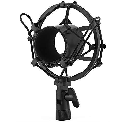 Montaje de choque negro, plástico y metálico Micrófono de Boseen Micrófono para 43-50 mm Diámetro con condensador MIC Studio Grabación