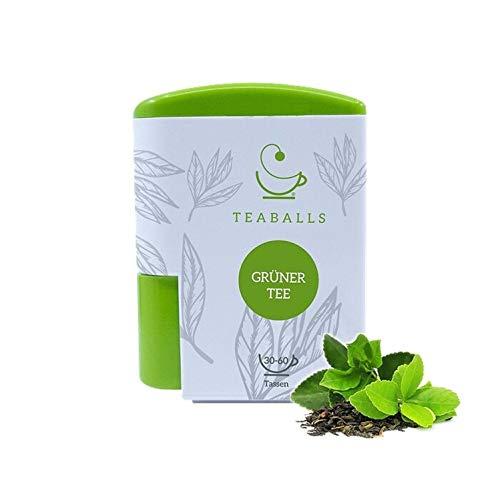 TEABALLS - Grüner Tee (1 x 6g) | 120 Teaballs | für ca. 30-60 Tassen Tee | 100% reines Pflanzenextrakt | Bekannt aus: Das Ding des Jahres