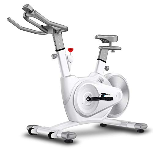 YUANP Bicicletas Estaticas Pequeñas,bicis Indoor Elípticas De Fitness Spinning Bicicleta Spinning Profesional Baratas Mejor Bicicleta Estatica Bici Estática Indoor,White