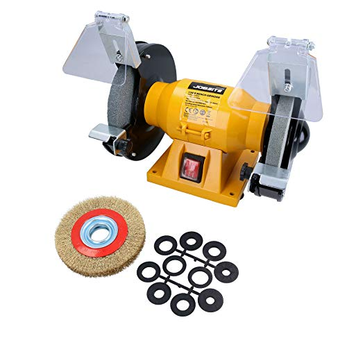 AB Tools 150mm Electric Workshop Bench Grinder 150w Grinding Polishing And 6  Wire Wheel