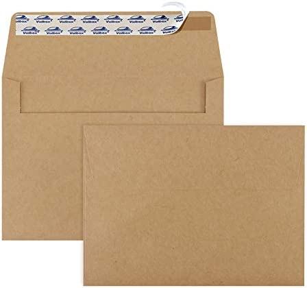 ValBox 200 Qty A7 Invitation Envelopes 5 x 7 120GSM Brown Kraft Paper Envelopes for 5x7 Cards product image