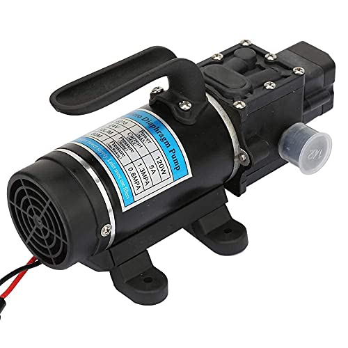 Bomba de Agua Autocebante, 12V/24V 120W 10L/M Bomba de Agua de Diafragma Bomba de Agua de Alta Presión Bomba de Agua Eléctrica(24V / 5A)