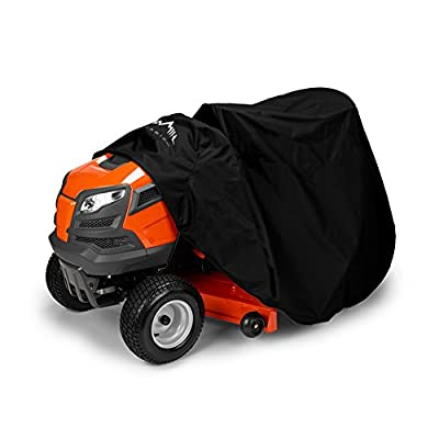 """Himal Outdoors Lawn Mower Cover -Tractor Cover Fits Decks up to 54"""" Storage Cover Heavy Duty 210D Polyester Oxford, UV Protection Universal Fit with Drawstring & Cover Storage Bag"""