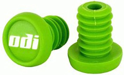 ODI Bar End Plug de rechange bouchon Guidon 1 Paire (2) + Fan tic26 Sticker (Vert)