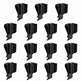 Amy Sport Golf Club Bag Clips On Putter Clamp Holder Organizer Value 6/12 Pack Durable Plastic Black Putting Clip with Ball Marker for Men Women Golfer (15 Pack)