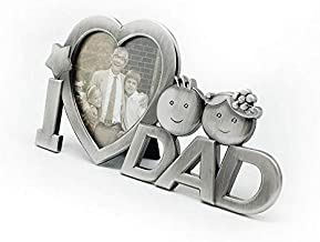 Metal I Love DAD Photo Frame for Father birthday, valentine and anniversary celebration Gift