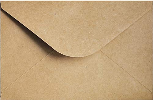 "A9 Envelope Kraft Invitation Envelope 5 ¾ x 8 ¾ | A9 Size 50 Pcs, 5 3/4"" x 8 3/4"" Inches, Wedding Invitation | Natural Brown Envelope | RSVP Envelopes"